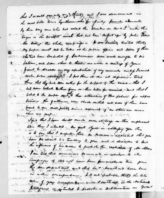 Duff Green to Andrew Jackson, July 8, 1827