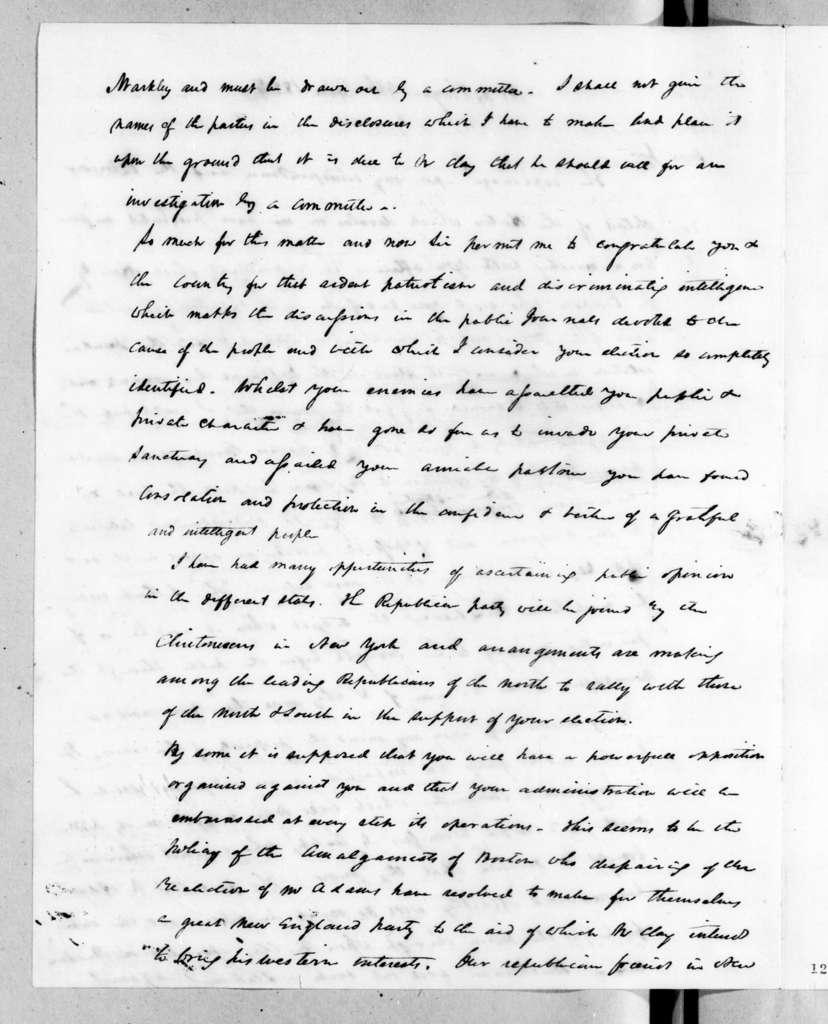 Duff Green to Andrew Jackson, June 9, 1827