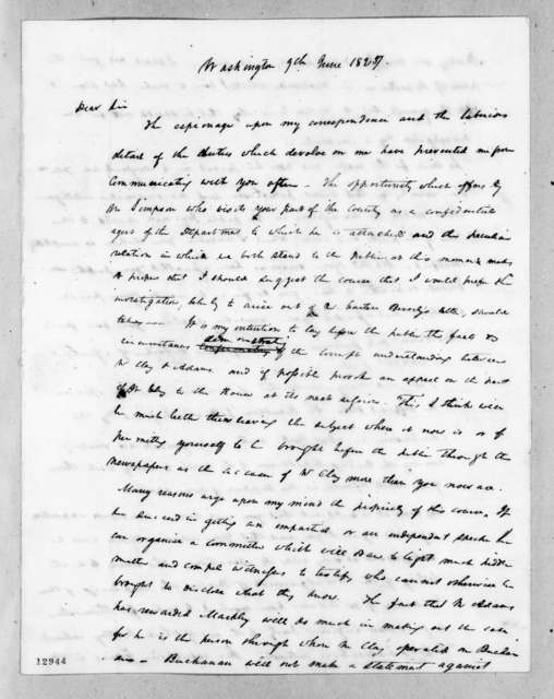 Duff Green to Andrew Jackson, June 9, 1827