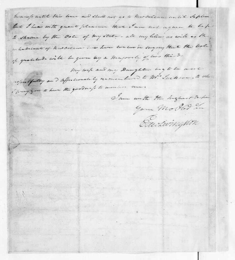 Edward Livingston to Andrew Jackson, May 21, 1827