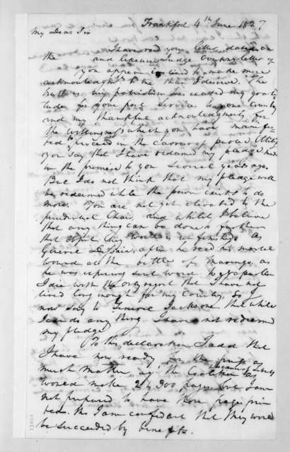 Henry Banks to Andrew Jackson, June 4, 1827