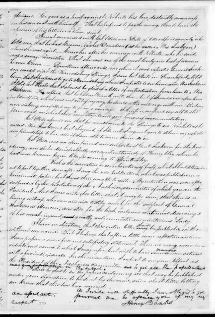 Henry Banks to John Overton, May 10, 1827
