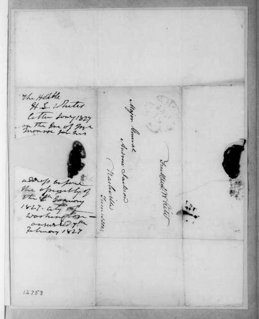Hugh Lawson White to Andrew Jackson, January 17, 1827