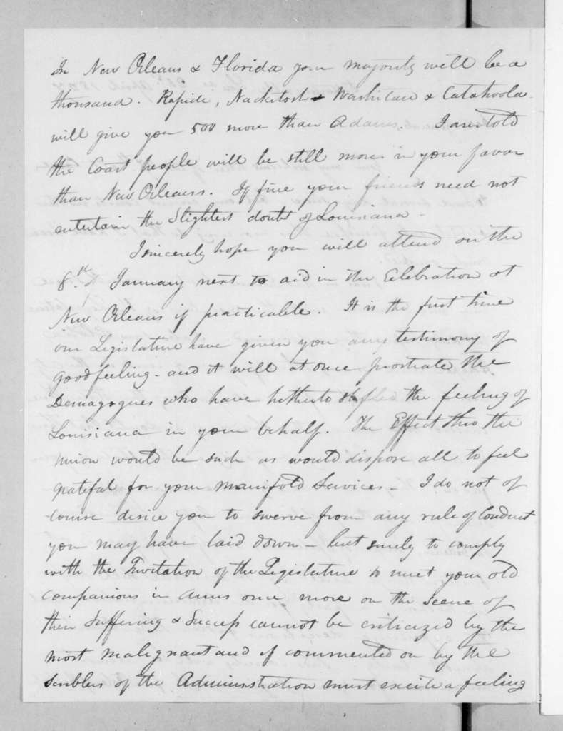 Isaac Lewis Baker to Andrew Jackson, April 21, 1827