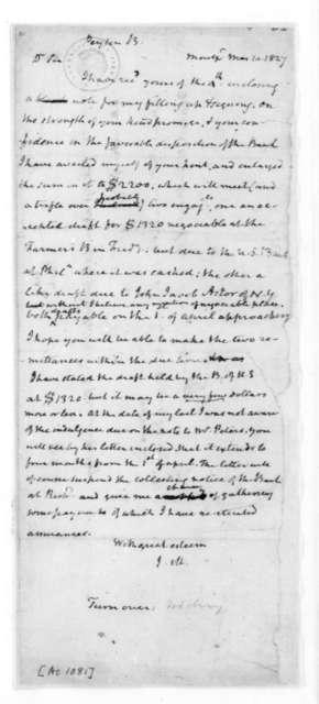 James Madison to Bernard Peyton, March 10, 1827.
