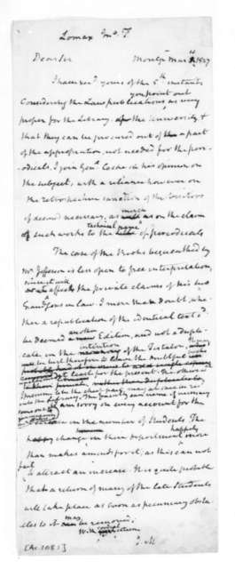 James Madison to John T. Lomax, March 10, 1827.