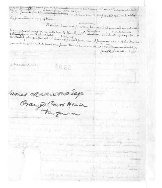 James Madison to Joseph C. Cabell. 1827.