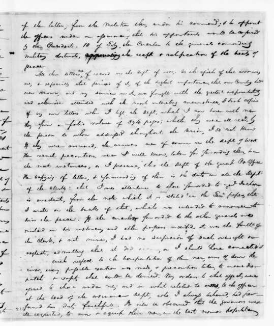 James Monroe to Hugh Lawson White, January 26, 1827