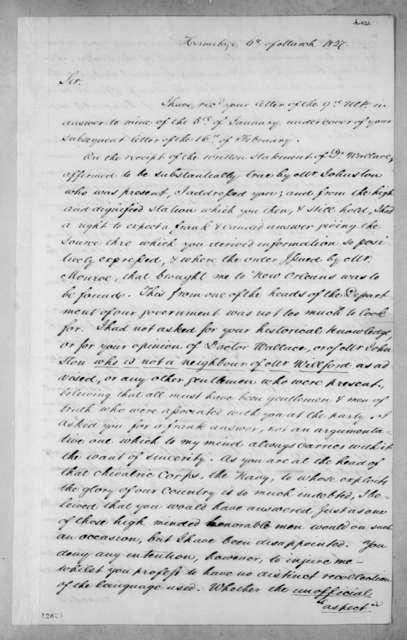 Jeremiah Goodwin to Andrew Jackson, November 12, 1827