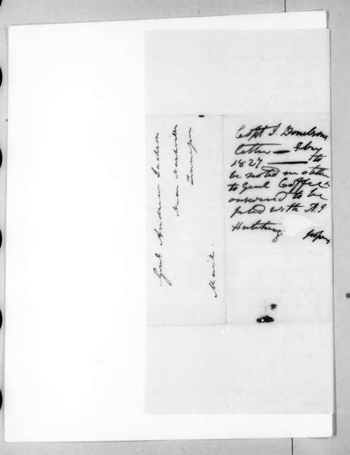 John Donelson, Jr. to Andrew Jackson, February 26, 1827