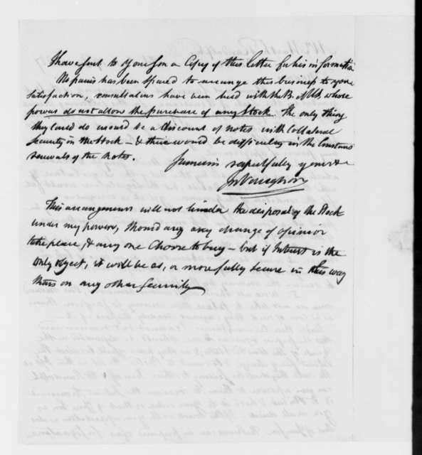 John Vaughan to Martha Randolph, December 17, 1827