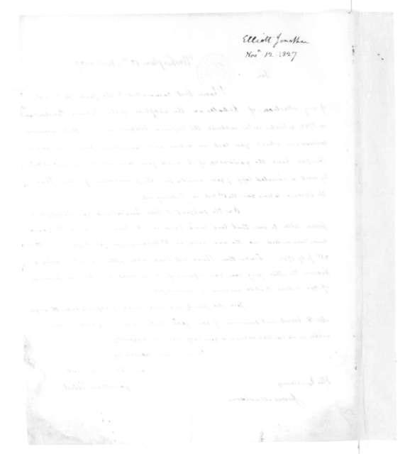 Jonathan Elliot to James Madison, November 12, 1827.
