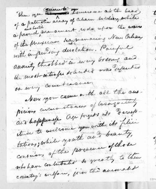 Louisiana Legislature to Andrew Jackson