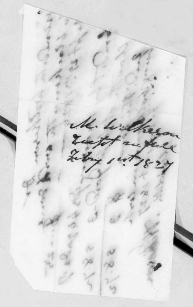 Meredith Wilkerson, February 1, 1827