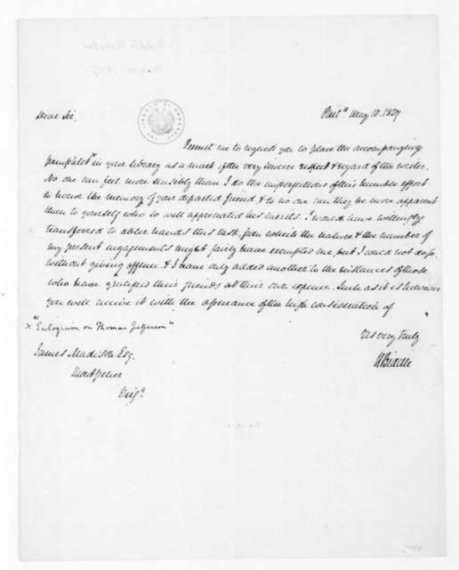 Nicholas Biddle to James Madison, May 10, 1827.