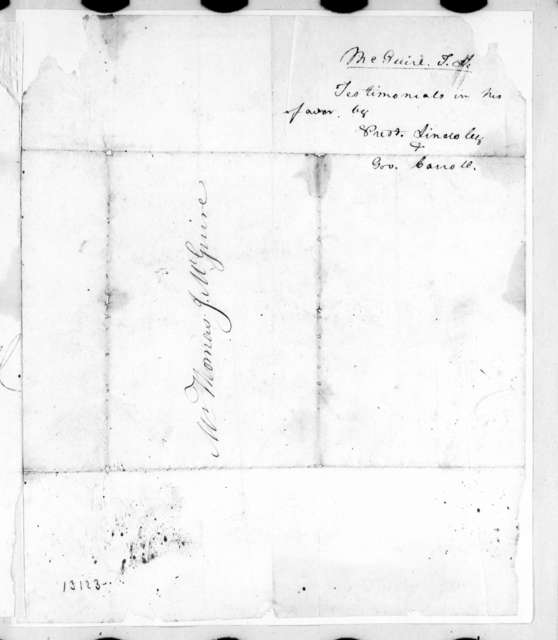 Philip Lindsley to T. McGuire, December 22, 1827