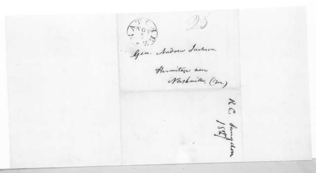 Richard Chester Langdon to Andrew Jackson, November 5, 1827
