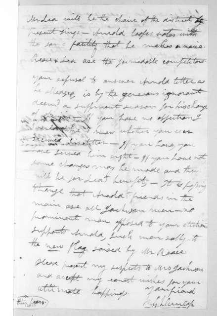 Richard Gilliam Dunlap to Andrew Jackson, May 12, 1827