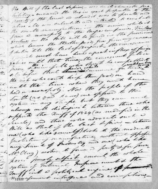 Robert Young Hayne to Andrew Jackson, June 5, 1827
