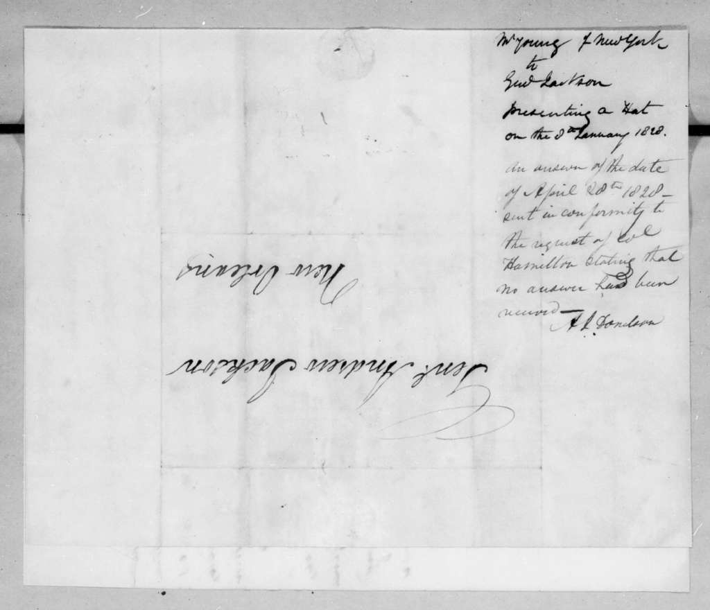 Thomas M. W. Young to Andrew Jackson, November 6, 1827