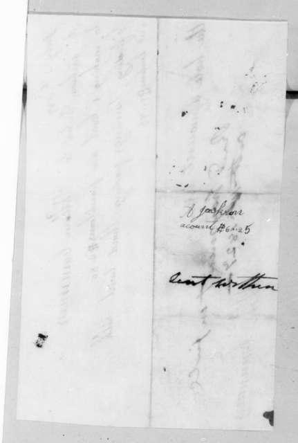 W. Cummins to Andrew Jackson, October 16, 1827