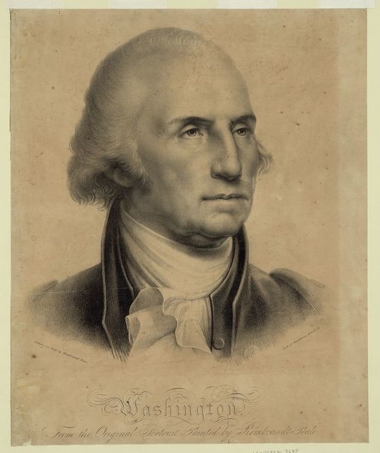 Washington. From the original portrait painted by Rembrandt Peale / Drawn on stone by Rembrandt Peale ; Litho of Pendleton, 9 Wall St.
