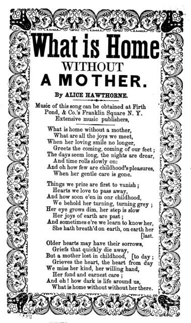 What is home without a mother. By Alice Hawthorne