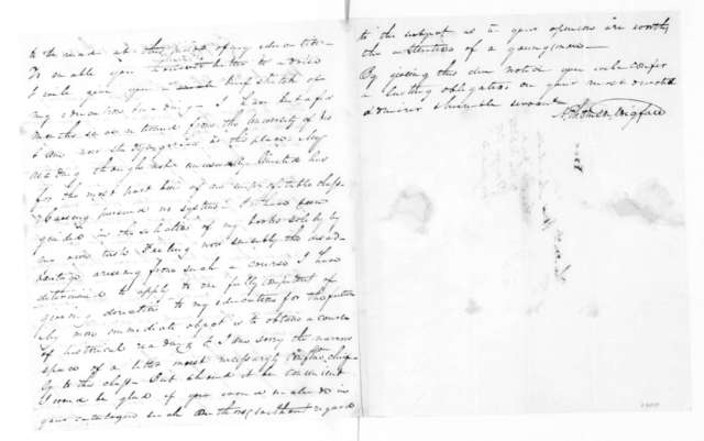 A. T. Wigfall to James Madison, July 12, 1828.