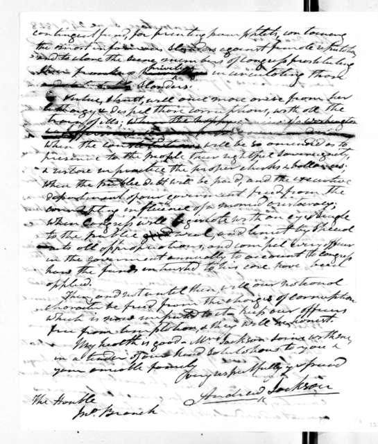 Andrew Jackson to John Branch, June 24, 1828