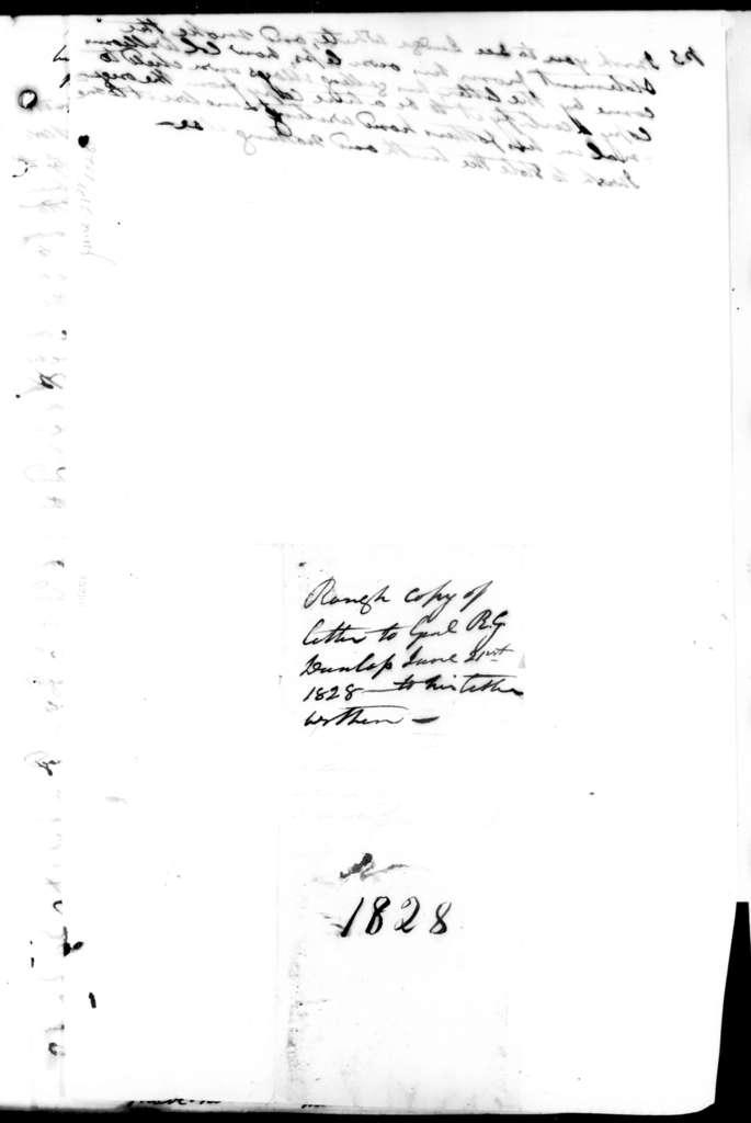 Andrew Jackson to Richard Gilliam Dunlap, June 21, 1828