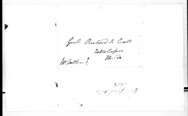 Andrew Jackson to Richard Keith Call, October 18, 1828