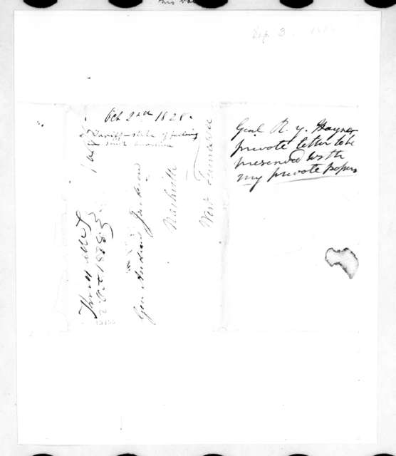 Andrew Jackson to Richard Mentor Johnston