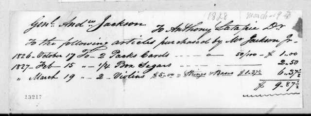Andrew Latapie to Andrew Jackson, March 19, 1828