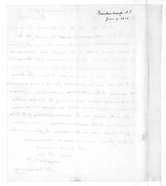 Arthur Spicer Brockenbrough to James Madison, June 17, 1828.