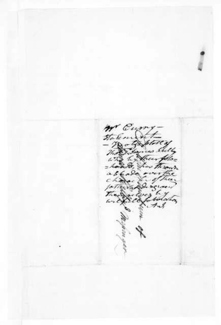 B. F. Currey to James Shelby, September 26, 1828
