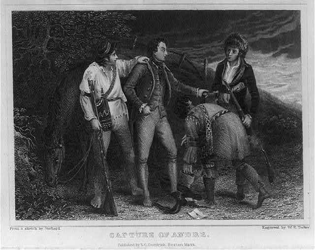 Capture of Andre / from a sketch by Stothard ; engraved by W.E. Tucker.