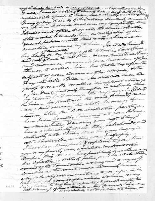 Carter Beverley to Andrew Jackson, January 20, 1828