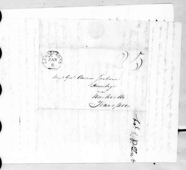 Charles Pendleton Tutt to Andrew Jackson, January 4, 1828