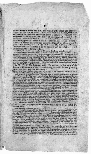 Circular. To the people of Kentucky. [Kentucky] S. Penn, Jr. printer, 1828.