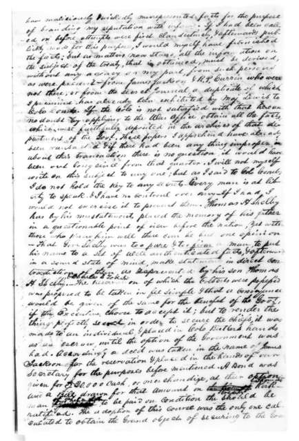 Copy of letters from James Jackson to Leslie Combs, Oct. 11, 2010, Leslie Combs to James Jackson, Oct. 14, 1828, B. F. Currey to Leslie Combs, Oct. 14, 1828 October 11, 1828