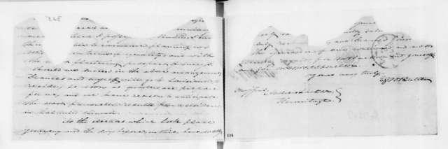 Edward George Washington Butler to Andrew Jackson, November 5, 1828