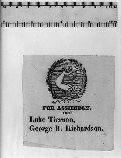 For Assembly. Luke Tiernan, George R. Richardson.
