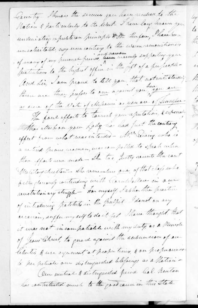 Francis Ewing to Andrew Jackson, October 4, 1828
