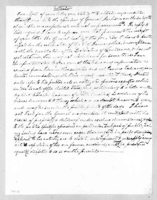 George Washington Campbell to Alfred Balch, February 12, 1828