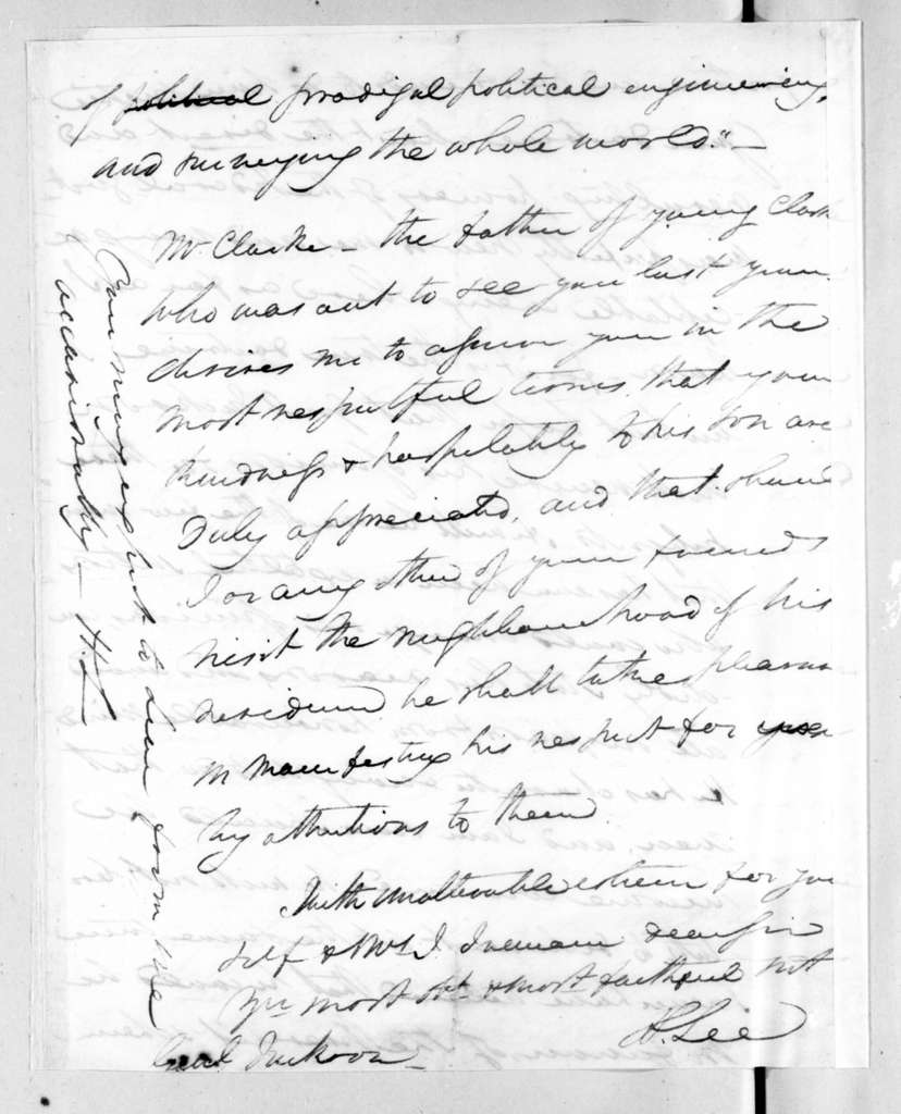 Henry Lee to Andrew Jackson, June 26, 1828
