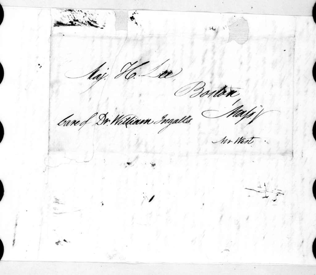 J. Hill to Henry Lee, September 16, 1828