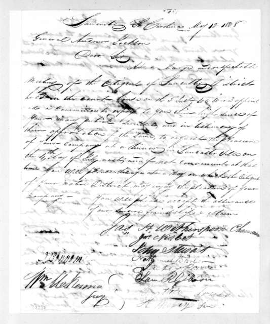 James Hervey Witherspoon et al. to Andrew Jackson, May 12, 1828