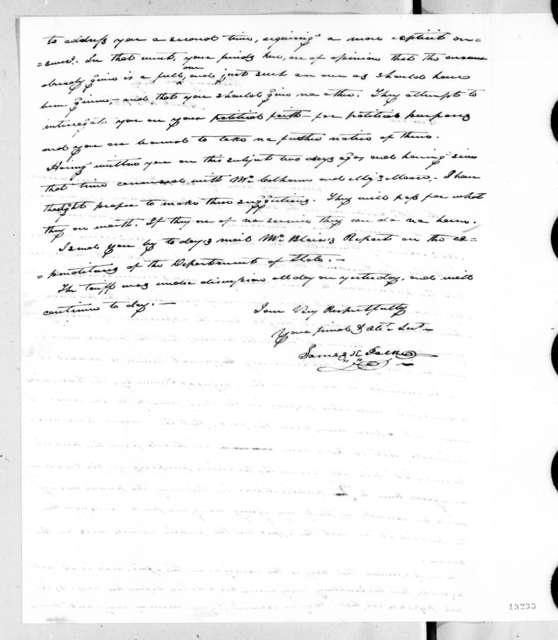 James Knox Polk to Andrew Jackson, April 15, 1828