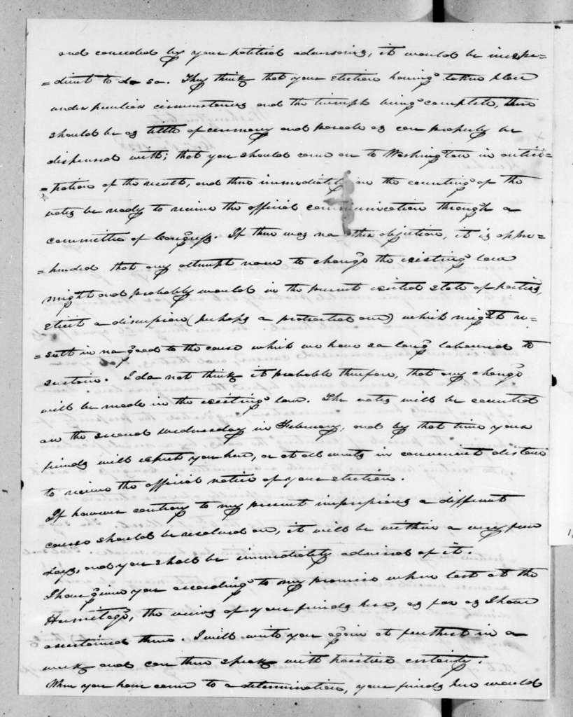 James Knox Polk to Andrew Jackson, December 1, 1828