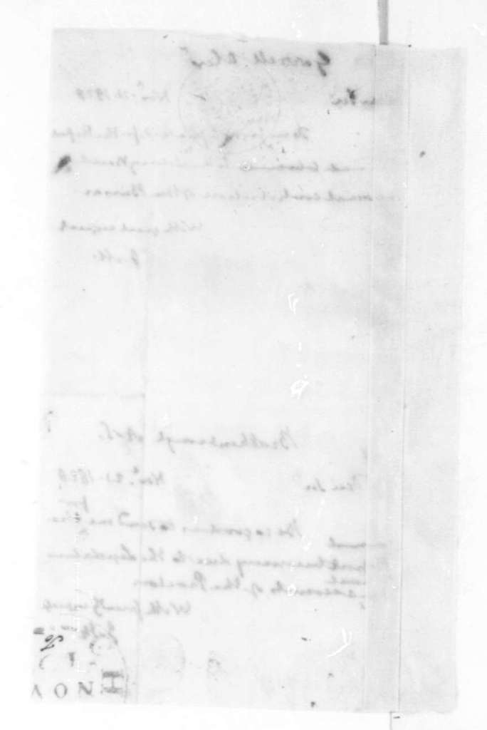 James Madison to Alexander Garrett, November 21, 1828. Includes letter to A. S. Brockenbrough Nov. 21, 1828.
